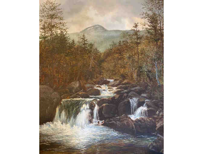 Bruce Mitchell Original Oil Painting 'Noonmark and Ausable River'