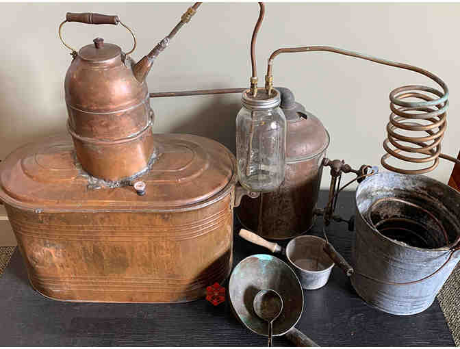 Vintage Copper Moonshine Still