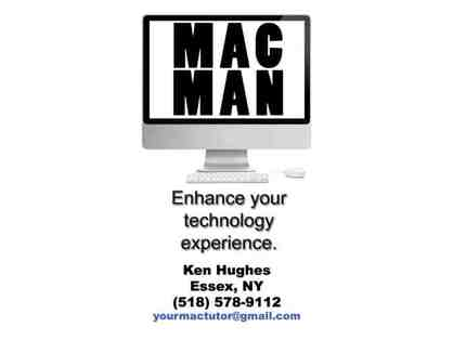 One Hour of Mac, PC, or Mobile Device Help by the MACMAN!