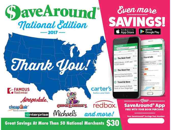 $aveAround 2017 National Coupon Book