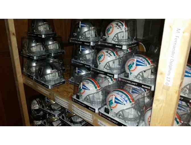 Autographed NFL Mini Helmets - Your Choice of Player/Team