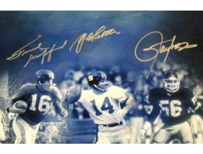 Lawrence Taylor Autographed Photo - Frank Gifford Ya Tittle 16x20 - JSA Certified