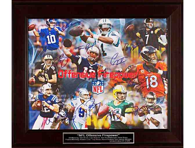 NFL Numbered Limited Edition Auction Item - 'NFL Offensive Firepower'
