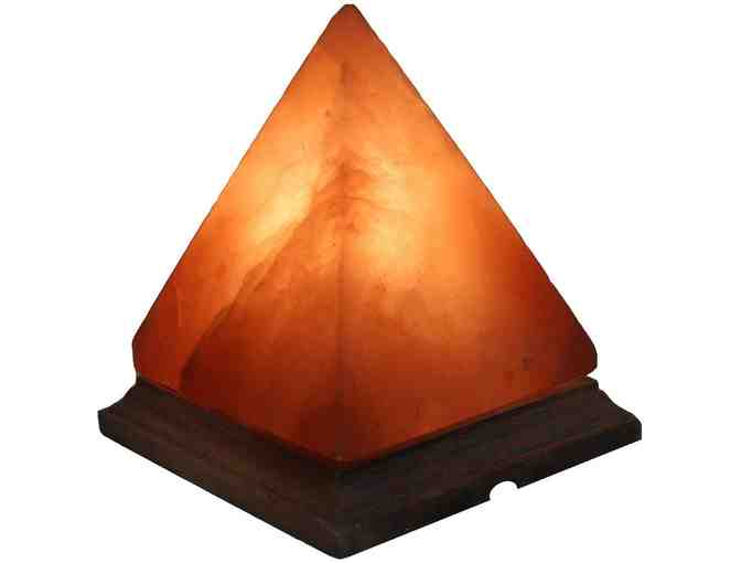 7-Inch Himalayan Pyramid Salt Lamp Natural Crystal Rock + Himalayan Salt Slab for Grilling