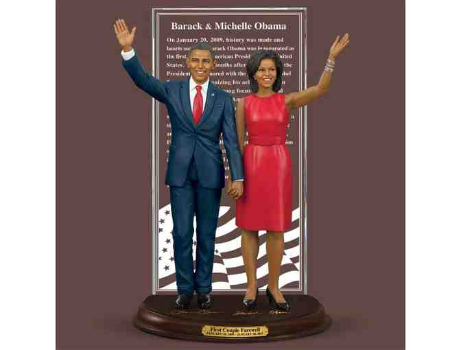 Barack and Michelle Obama Farewell Sculpture