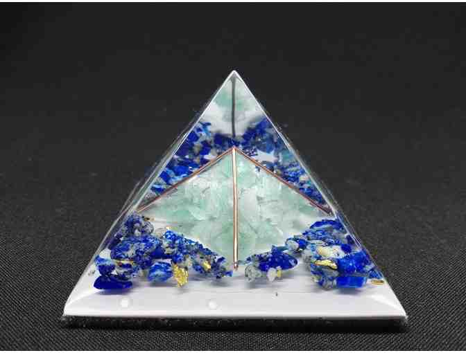 Orgonite Orgone Pyramid - Energy Generator - LOVE - DOUBLE POWER