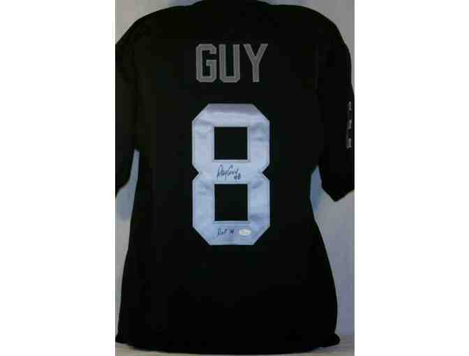 Ray Guy 'HOF 14' Raiders Signed Black Jersey Authentic Autograph