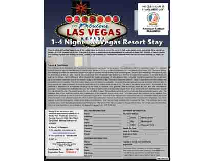 1-4 Night Las Vegas Hotel & Casino (value $1000)