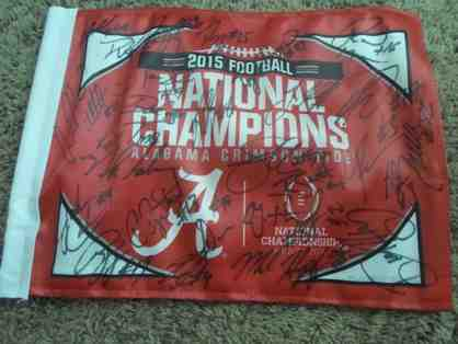 2015 University of Alabama Football Signed Flag