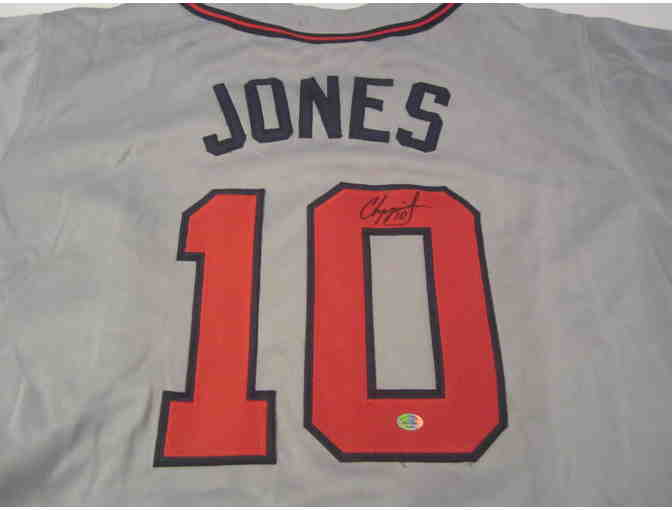 Chipper Jones Atlanta Braves Autographed Jersey