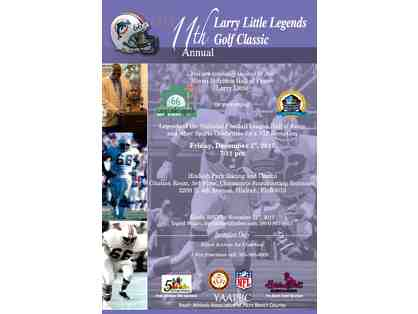 11th Annual Larry Little Legends Golf Classic Package  4 Golfers