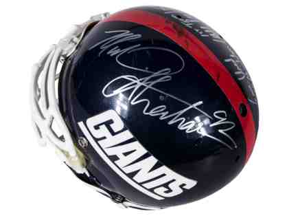 1998 Michael Strahan Game Used And Signed New York Giants Helmet (Strahan LOA & Resolution