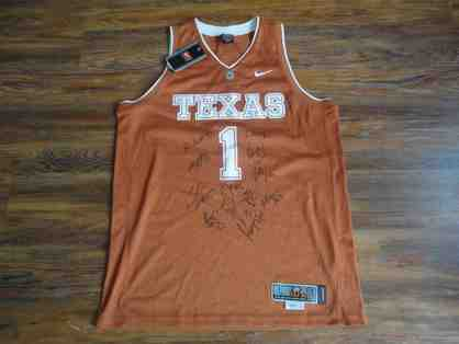 2010 Texas Longhorns Autographed Basketball Jersey