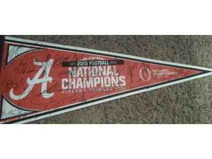 2015 Alabama Team Championship Autographed Pennant