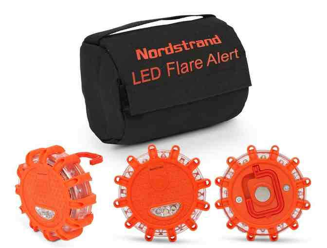 Set of 3 Nordstrand LED Flares Emergency Roadside 9.1.1 Lights Flashing Road Beacon