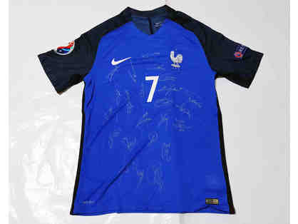 2016 France Euro Cup Team Signed Soccer Jersey