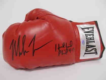 Mike Tyson Evander Holyfield Autographed Glove