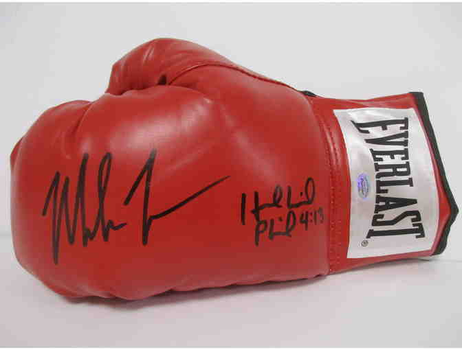 Mike Tyson Evander Holyfield Autographed Glove - Photo 1