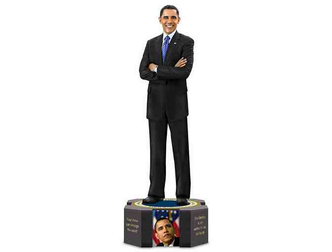 President Barack Obama Farewell Sculpture With Quotes Photos by The Hamilton Collection