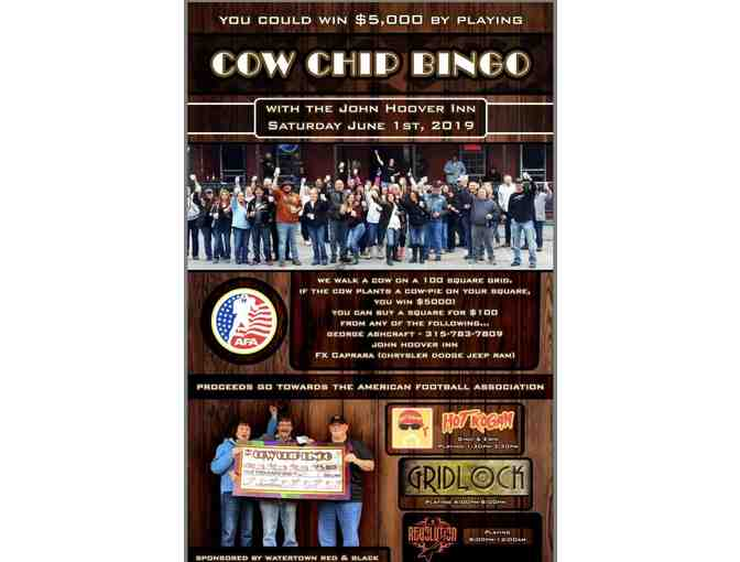 Cow Chip Bingo Fundraiser Sponsored by  Watertown Red & Black - Free Signup