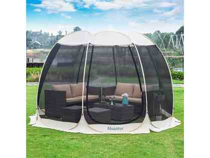 Screen House Outdoor Pop Up Canopy Tent 15' x 15' x 8.5'H,