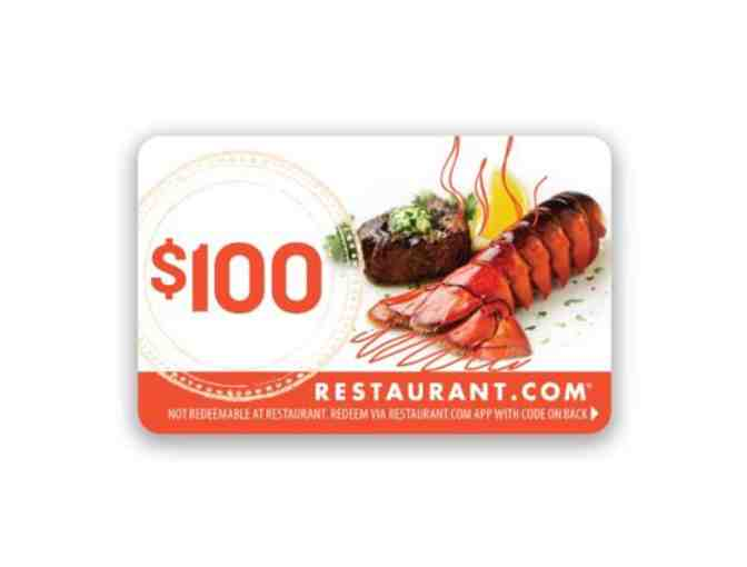 Restaurant.com $100 Gift Card - Purchase gift cards for use when things return to normal - Photo 1