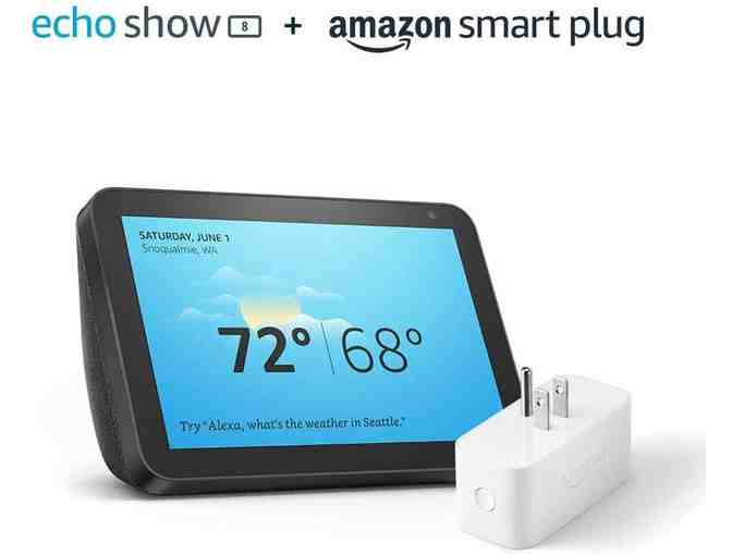 Echo Show 8 Charcoal with Amazon Smart Plug - Photo 1