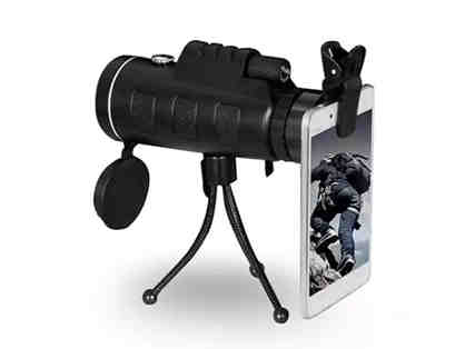 Zoomable 60X Monocular with Smart Phone Attachment