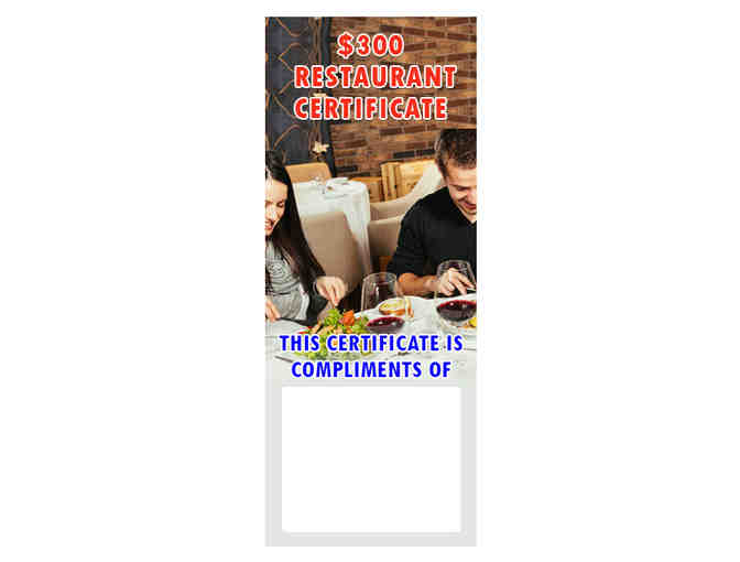 $300 Restaurant Certificates - FREE - Photo 1