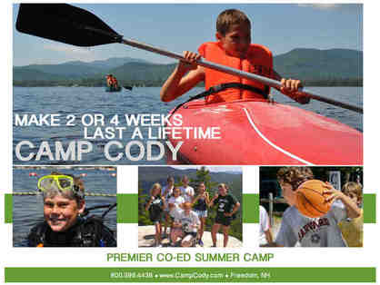 Camp Cody (Dover, New Hampshire): $1,850 gift card