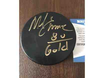 1980 Mike Eruzione Autographed Hockey Puck