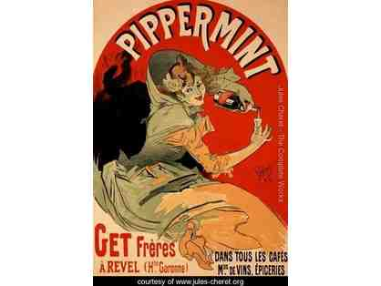 Framed Reproduction of a poster advertising 'Pippermint', 1899
