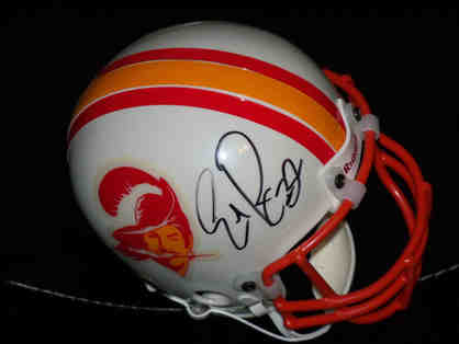 RB Eric Rhett signed mini helmet