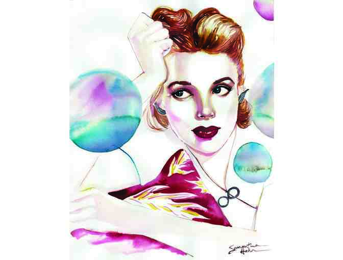 Judy Garland watercolor by SAMANTHA HAHN