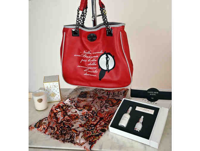 Kettey's International Fashion Package - Purse, Scarf, Scents, and Candle - Photo 1
