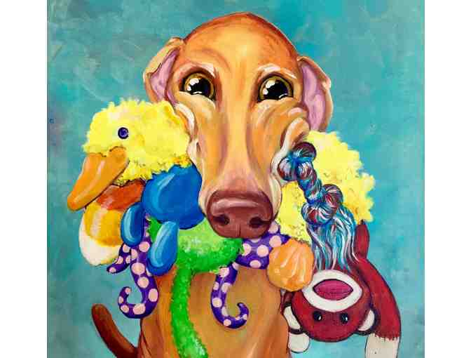 "Art Print by Courtney Kelly, Hound and Toys, 8.5"" x 11"", unframed - Photo 1"