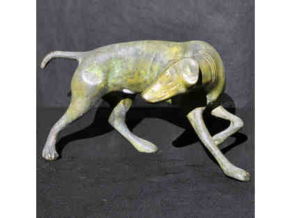 Hunting Dog Statue - Vintage Brass Figure