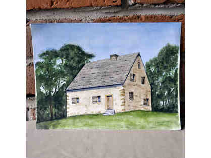Watercolor - 1719 Hans Herr House - Original by Marlene Koch