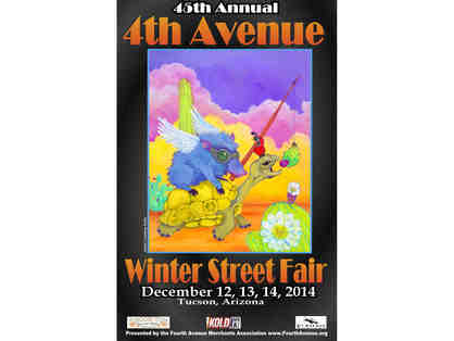 Poster - Dec 2014 Fourth Ave Street Fair - signed by Courtney Kelly, 18