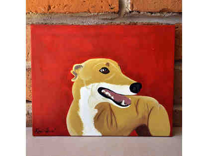 Greyhound Acrylic Painting on Canvas