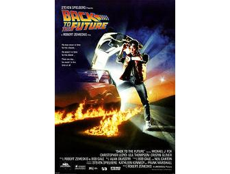 Autographed 'Back to the Future' Framed Movie Poster