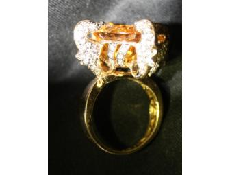 1:A BEAUTIFUL ULTRA COUTURE RING! QUANTUM CUT DEEP COLOR CITRINE AND CHOCOATE DIAMONDS! - Photo 2