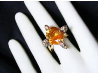 1:A BEAUTIFUL ULTRA COUTURE RING! QUANTUM CUT DEEP COLOR CITRINE AND CHOCOATE DIAMONDS! - Photo 4