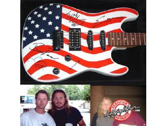 LYNYRD SKYNYRD Autographed Custom Airbrushed Guitar - Photo 1