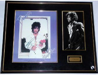 Prince autographed custom framed display - Photo 1