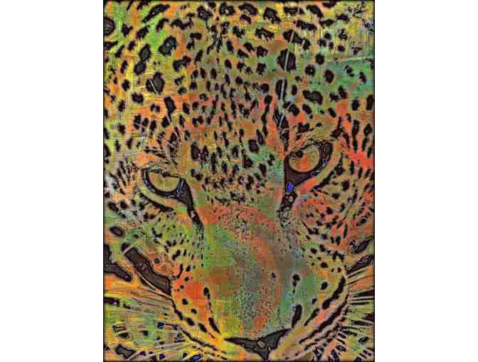'LEOPARD III' BY WBK:   Available in 2 mediums: A3 Giclee or 40x30 Canvas!
