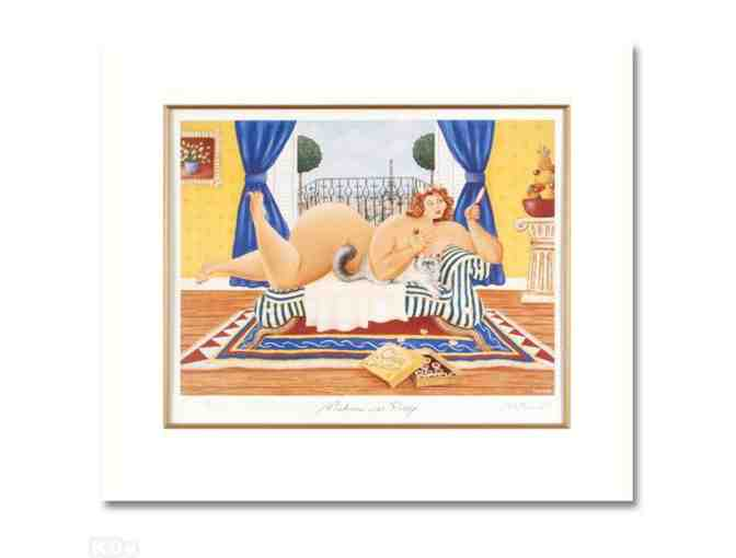 '*!: 1 only:  LIMITED EDITION (MATTED) LITHOGRAPH: Madonna avec Pussy by Matthew Watts