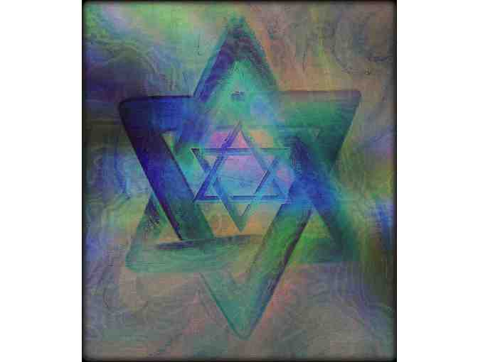 'STARS OF DAVID' BY ISA:  Available in 2 mediums: A3 Giclee or 40X30 Canvas!
