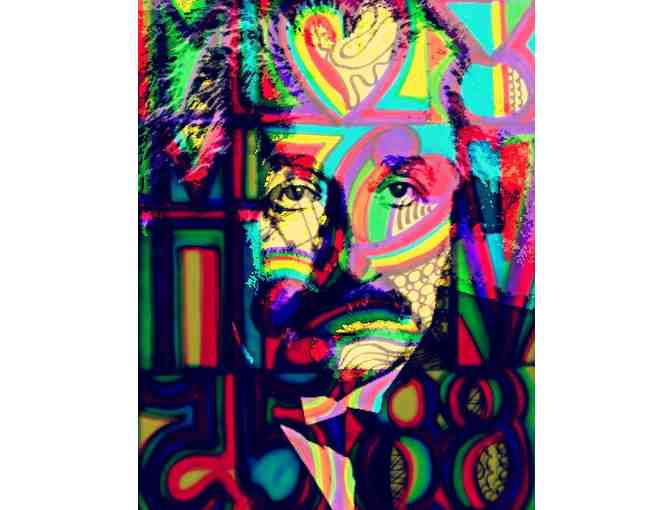 'THE GENIUS' by WBK:  AVAILABLE IN TWO MEDIUMS:  A3 OR 40X30 CANVAS