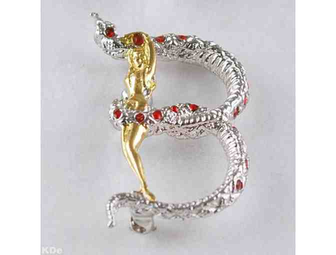 1 ERTE!! From the 'Father Of Art Deco' Collectible Art to Wear!  'B' Pendant/Brooch